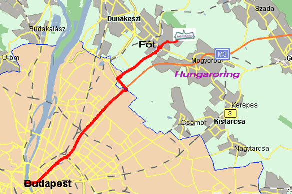 fót térkép PANORÁMA Panzió Fót   Térkép